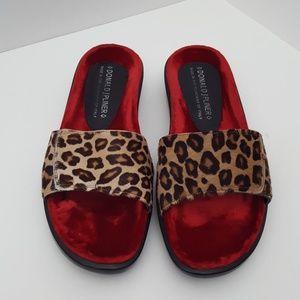 Donald J Pliner leopard print slide sandals 7M